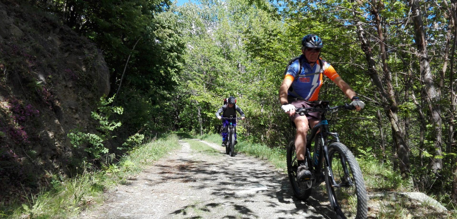 e-bike tour - discesa
